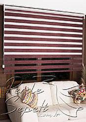 İkili Perde(Ön Funda Bamboo Zebra Perde Arka Beyaz Neo Classic Stor Perde) - 4