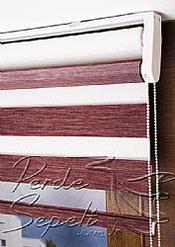 İkili Perde(Ön Funda Bamboo Zebra Perde Arka Beyaz Neo Classic Stor Perde) - 5