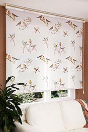 İkili Perde(Ön Kuşlar Design Stor Arka Kırık Beyaz Blackout Stor Perde) -