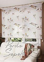 İkili Perde(Ön Kuşlar Design Stor Arka Kırık Beyaz Blackout Stor Perde) - 2
