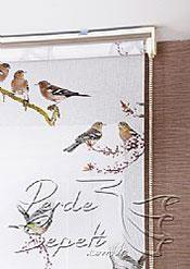 İkili Perde(Ön Kuşlar Design Stor Arka Kırık Beyaz Blackout Stor Perde) - 6