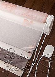 İkili Perde(Ön Pembe Kelebek Desenli Deluxe Dantella Arka Beyaz Transparan Güneşlik Stor Perde) - 6