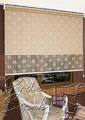 İkili Perde(Ön Sütlü Kahve Top Desenli Deluxe Dantella Arka Latte Kahve Neo Classic Stor Perde) - 4