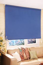 İkili Perde (Mavi Kelebek Desenli Kahverengi Tül Stor Arka Lacivert Neo Classic Güneşlik Stor)