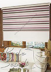 İkili Perde (Ön 3 Renkli Organze 2 Colourful Zebra Perde Arka Krem Basic Stor Perde) - 1