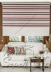 İkili Perde (Ön 3 Renkli Organze 2 Colourful Zebra Perde Arka Krem Basic Stor Perde) - 2