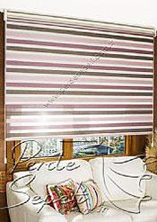 İkili Perde (Ön 3 Renkli Organze 2 Colourful Zebra Perde Arka Krem Basic Stor Perde) - 3