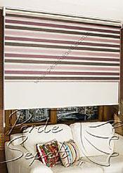 İkili Perde (Ön 3 Renkli Organze 2 Colourful Zebra Perde Arka Krem Basic Stor Perde) - 5