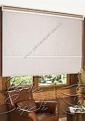 İkili Perde (Ön Beyaz Halka Desenli Estela Stor Arka Sütlü Kahve Pearl Stor) - 4