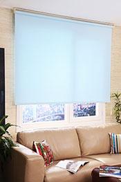 İkili Perde (Ön Beyaz Kelebek Desenli Deluxe Dantella Serisi -Arka Buz Mavisi Neo Classic Stor)