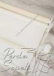 İkili Perde (Ön Ekru Halka Desenli Estela Stor Arka Beyaz Simli Neo Classic Stor) - 7