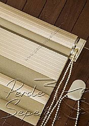 İkili Perde (Ön Kahve Krem Çizgili Bright Line Zebra Arka Sütlü Kahve Simli Neo Classic Serisi Stor) - 7