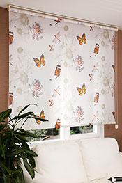 İkili Perde (Ön Kelebeğin Rüyası Design Stor Arka Beyaz Basic Serisi)