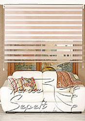İkili Perde (Ön Pudra Bamboo Zebra Arka Beyaz Neo Classic Stor) - 2