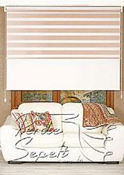 İkili Perde (Ön Pudra Bamboo Zebra Arka Beyaz Neo Classic Stor) - 3