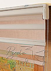 İkili Perde (Ön Pudra Bamboo Zebra Arka Beyaz Neo Classic Stor) - 5