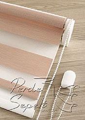 İkili Perde (Ön Pudra Bamboo Zebra Arka Beyaz Neo Classic Stor) - 6