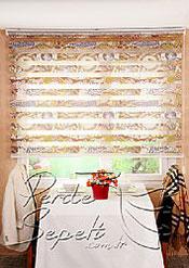 Kahve Desenli  Baskılı Zebra Perde - 2