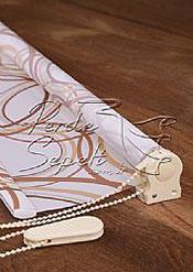 Kahverengi Daireler Baskılı Klasik Stor Perde - 4