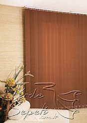 Kahverengi Dikey Kumaş Perde 89mm - 3