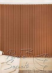 Kahverengi Dikey Kumaş Perde 89mm - 4