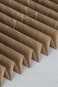 Kahverengi Folium Serisi 14mm Cam Balkon Plise Perde
