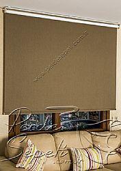 Kahverengi Linen Blackout Stor Perde - 3