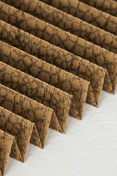 Kahverengi Mozaik Serisi 14mm Cam Balkon Plise Perde
