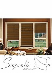 Kahverengi Mozaik Serisi 14mm Cam Balkon Plise Perde - 1