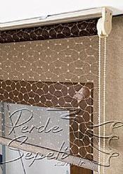 Kahverengi Zincir Desenli Deluxe Dantella Serisi Stor Perde - 4