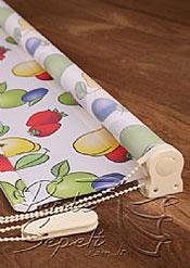 Karışık Meyveler Baskılı Klasik Stor Perde - 4
