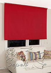 Kırmızı Basic Stor Perde - 3
