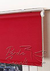 Kırmızı Basic Stor Perde - 4