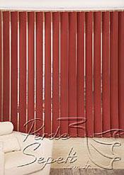 Kırmızı Dikey Blackout Kumaş Perde 127mm - 3