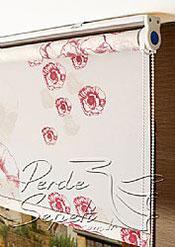 Kırmızı Güller Baskılı Klasik Stor Perde - 4