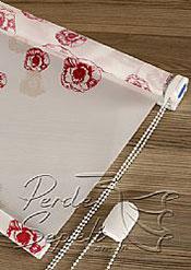Kırmızı Güller Baskılı Klasik Stor Perde - 5