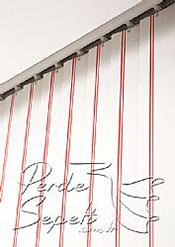 Kırmızı Şeritli Seri Dikey Pvc Perde - 6