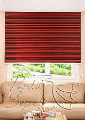 Kırmızı Siyah Geçişli Magic Zebra Perde - 3