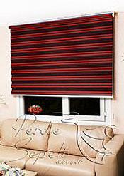 Kırmızı Siyah Geçişli Magic Zebra Perde - 4