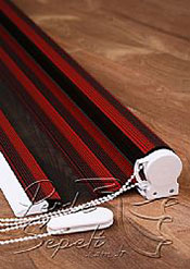 Kırmızı Siyah Geçişli Magic Zebra Perde - 5