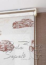 Klasik Arabalar Design Stor Perde - 4