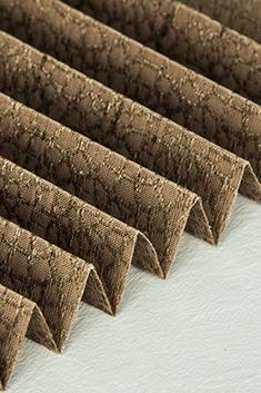 Koyu Kahverengi Mozaik Serisi 14mm Cam Balkon Plise Perde