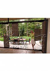 Koyu Kahverengi Mozaik Serisi 14mm Cam Balkon Plise Perde - 2