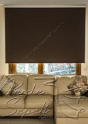 Koyu Kahverengi Linen Blackout Stor Perde - 2