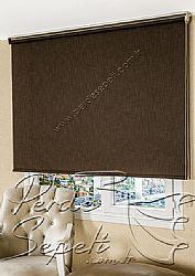 Koyu Kahverengi Şantuk Stor Perde - 1