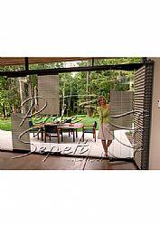 Koyu Krem Mozaik Serisi 14mm Cam Balkon Plise Perde - 2