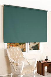 Koyu Yeşil Neo Classic Stor Perde -