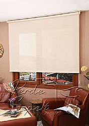 Krem Jacquard Screen Perde - 1