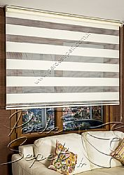 Krem Sahra Pileli Zebra Perde - 4