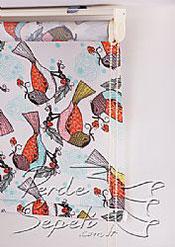 Kuş Desenli Baskılı Klasik Stor Perde - 4